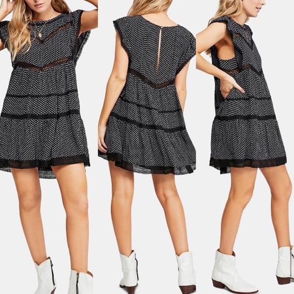 ddca90bdbe5e Free People Dresses | People Retro Kitty Dress Crochet Trim | Poshmark